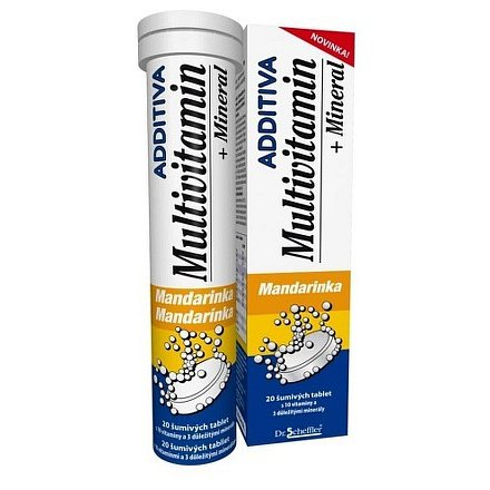 Additiva multivitamín +minerál tablety šumivé 20 mandarinka