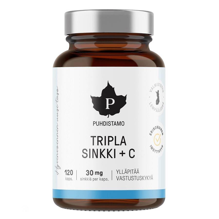 Puhdistamo Triple Zinc + Vitamin C 120 kapslí