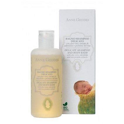 Anne Geddes Bio Jemný dětský vlasový a tělový šampon 250ml