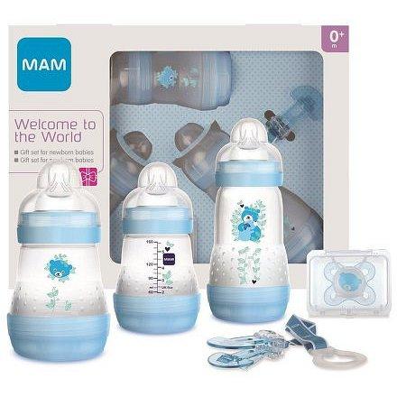 MAM Gift dárkový set pro novorozence malý 0+m modrý