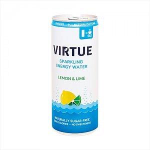 Virtue energetická sycená voda -citron a limetka 250ml