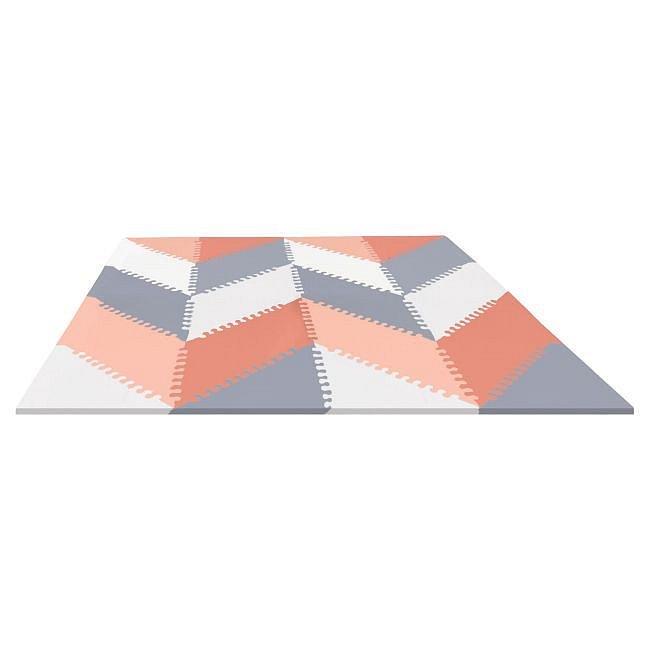 SKIP HOP Puzzle pěnové - šedo-oranžové 72ks -10m+