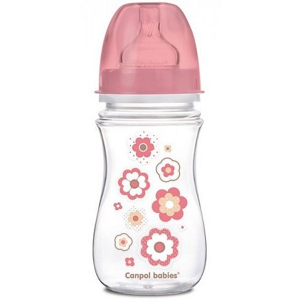 Láhev se širokým hrdlem Newborn baby 240ml růžová
