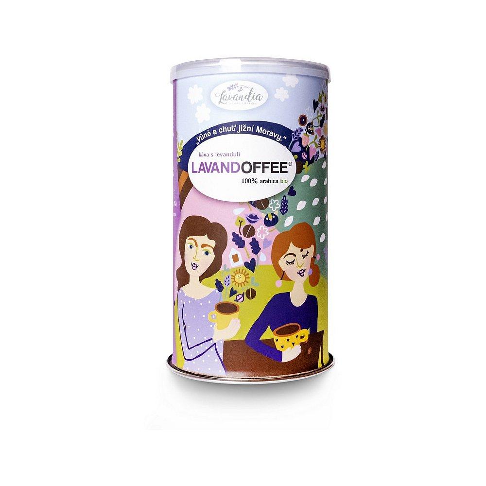 LAVANDIA Lavandoffee Káva s levandulí 100% Arabica BIO 150 g