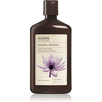 Ahava Mineral Botanic Lotus & Chestnut sametový sprchový krém lotos a kaštan  500 ml