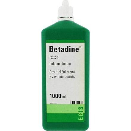 Betadine tekutina 1 x 1000 ml (H) zelený