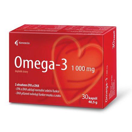 Omega- 3  1000 mg orální tobolky 30 pro zdravé srdce a cévy