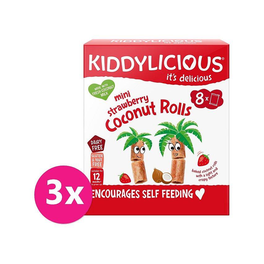 3 x KIDDYLICIOUS Mini jahodové trubičky