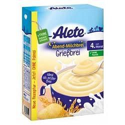 Alete Večerní mléčná rýžovo-kukuřičná kaše 4m+ 400 g