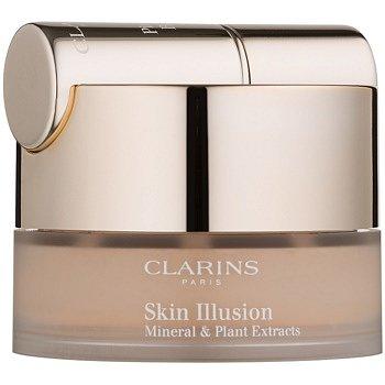 Clarins Face Make-Up Skin Illusion pudrový make-up se štětečkem odstín 112 Amber 13 g