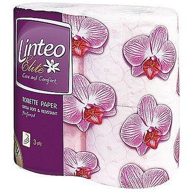 Toaletní papír LINTEO Satin 3vrst. 4ks parfemovaný - poslední kus