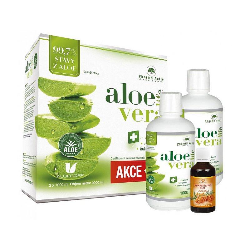 AKCE AloeVeraLife aloe 99.7% SET 1+1 1000ml + 100% Rakytníkový olej 50ml
