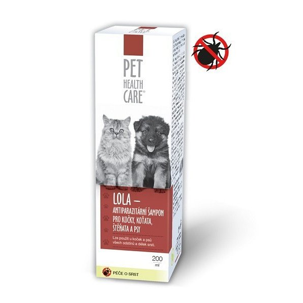 PET HEALTH CARE LOLA šamp. kočky antiparaz. 200ml - II.jakost