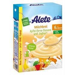 Alete Mléčná semolinová kaše jogurtová s ovocem 6m+ 400 g