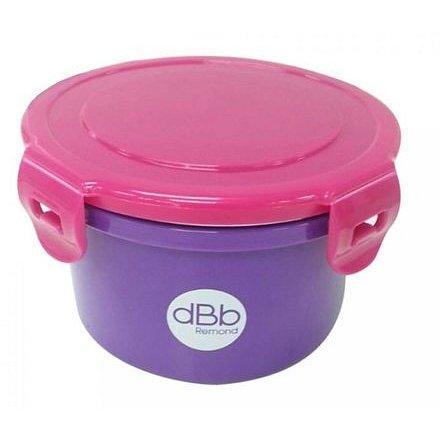 dBb Baby Lunch 400 ml s víčky, růžovofialový