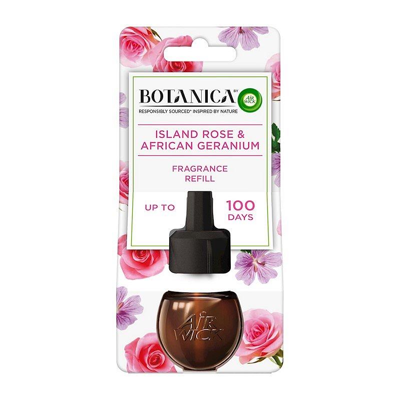 BOTANICA by AIR WICK tekutá náplň do elektrického přístroje Exotická růže a africká pelargónie DUO 1