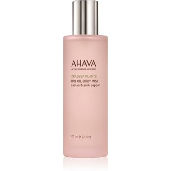 Ahava Dead Sea Plants Cactus & Pink Pepper suchý tělový olej ve spreji  100 ml