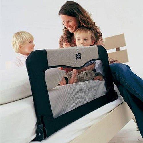 BABYDAN Cestovní zábrana k posteli+taška 90 cm, černá - BabyDan Cestovní zábrana k posteli s taškou NEW modrá