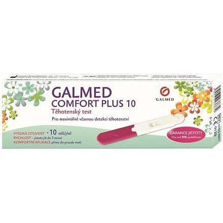 Galmed Těhotenský test Comfort Plus 10 tyčinka 1 ks