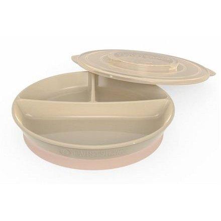 Dělený talíř 6+m Pastelově béžová