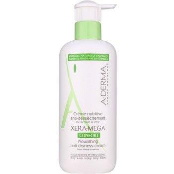 A-Derma Xera-Mega Confort výživný krém na obličej a tělo pro suchou až velmi suchou pokožku 400 ml