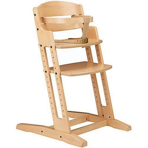BABYDAN Dřevěná jídelní židlička DanChair, natur