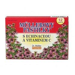 Dr.Müller Müllerovy pastilky s echinaceou 12 pastilek