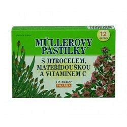 Dr.Müller Müllerovy pastilky s jitrocelem a mateřídouškou 12 pastilek