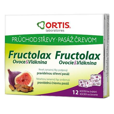 ORTIS Fructolax 12 žvýkacích kostek CZ/SK