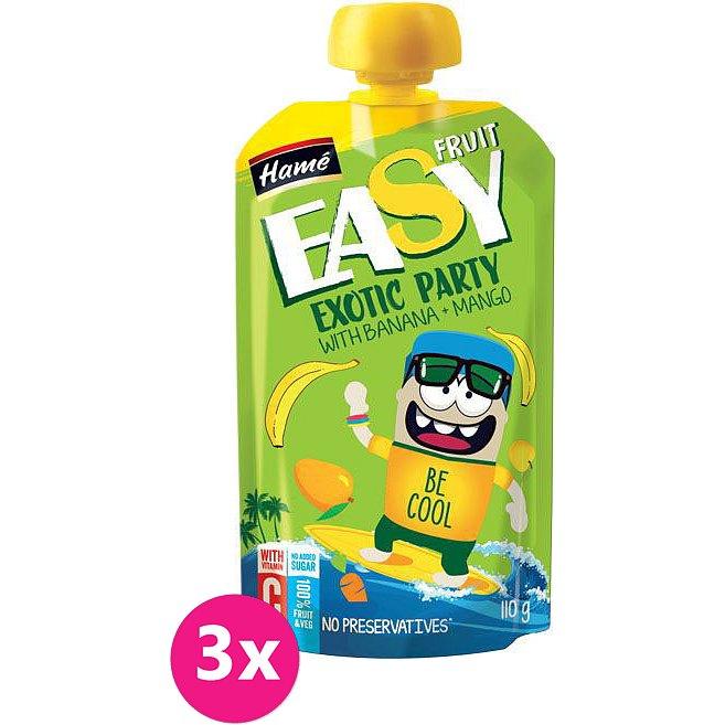 3x HAMÁNEK Easyfruit Exotic Party banán + mango (110 g) – ovocná kapsička