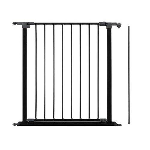 BABYDAN Prodloužení prostorové zábrany s dvířky 72cm, černé