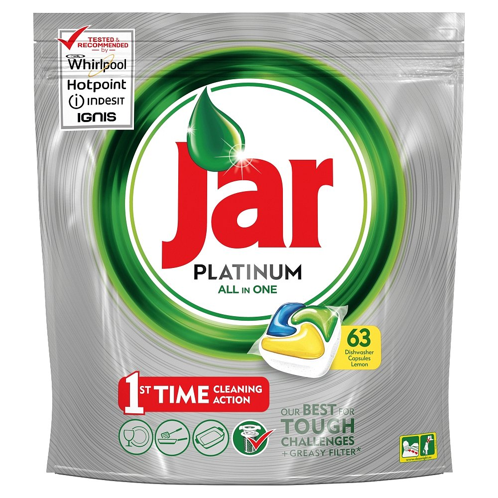 JAR Tablety do myčky Platinum Yellow 63 ks