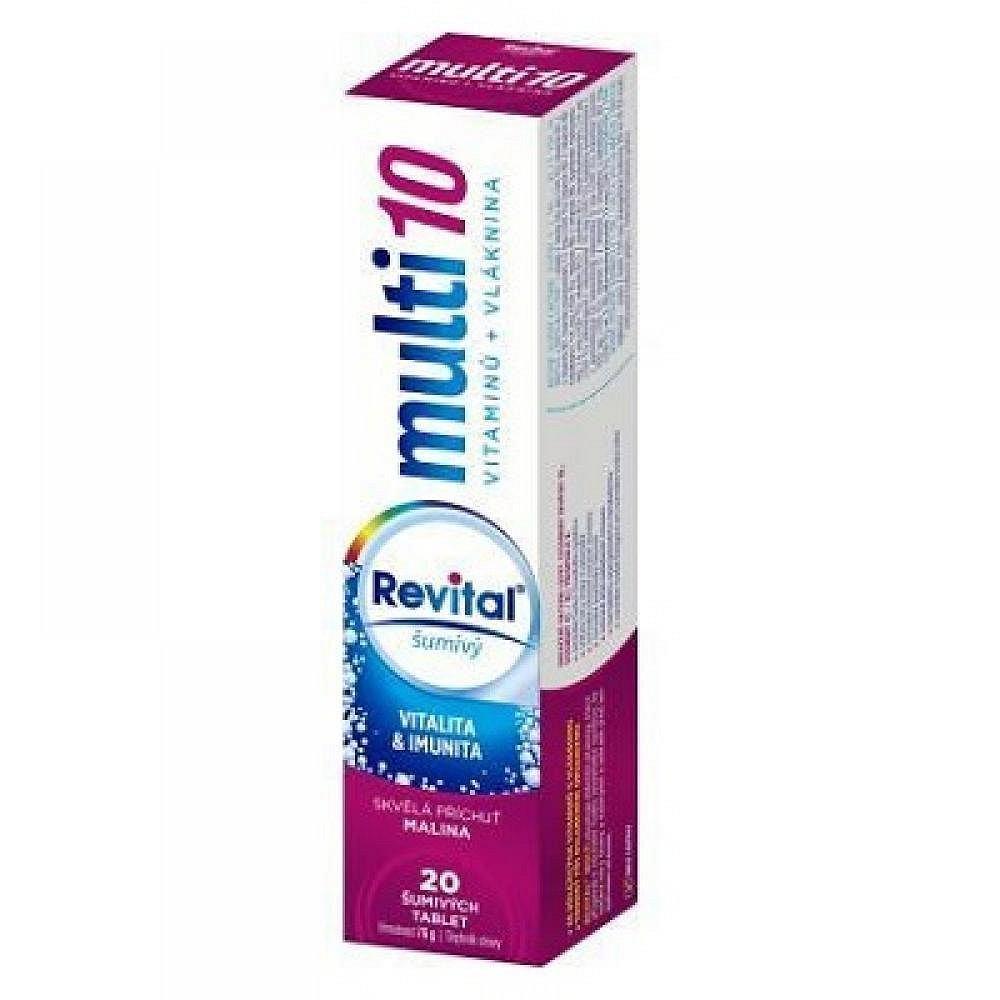 VITAR Revital Multi Malina šumivé tablety 20 ks, poškozený obal
