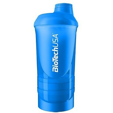 "BiotechUSA Shaker Wave+ 600ml(+250ml+100ml) ""Schocking Blue"""