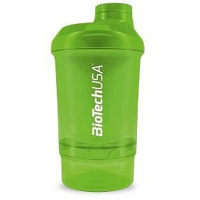 BiotechUSA Wave+ Nano shaker 300ml (+150ml) Grass Green