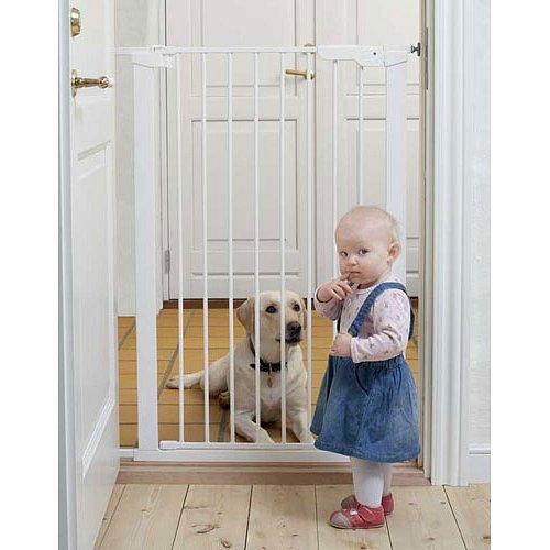 BABYDAN Vysoká zábrana Premier Pet Gate 73-86 cm, bílá