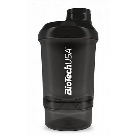 BiotechUSA Wave+ Nano shaker 300ml (+150ml) Panther Black