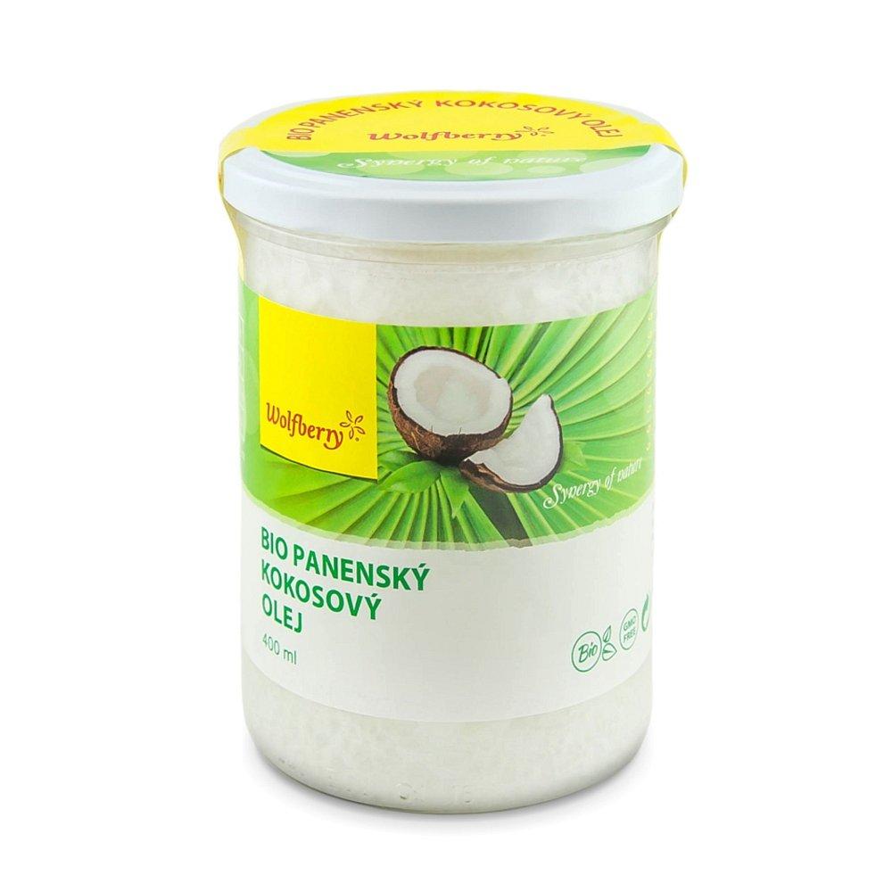 Wolfberry Bio Kokosový olej panenský 400 ml, poškozený obal