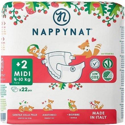 Plenky Nappynat Midi 4-10 kg 22ks