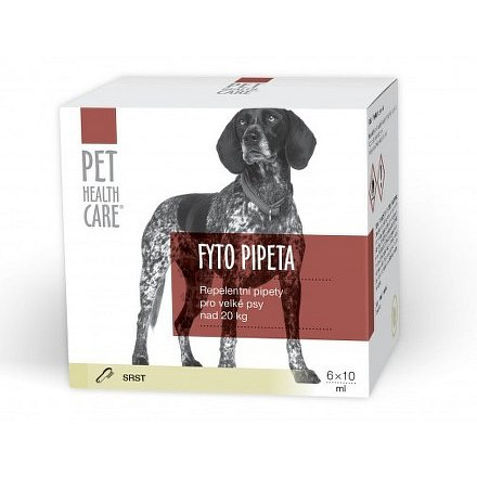 PET HEALTH CARE Fytopipeta pes od 20 kg 6x 10 ml