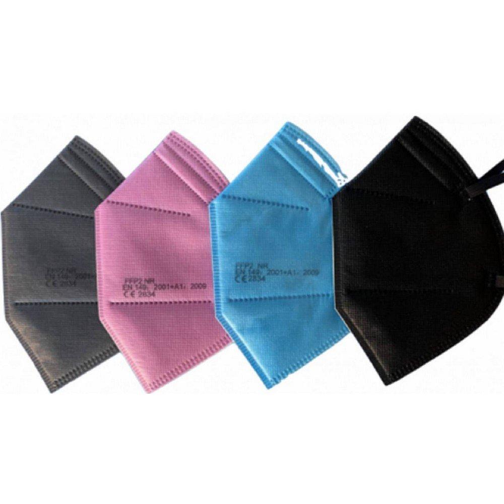 10x Respirátor FFP2 Mix barev