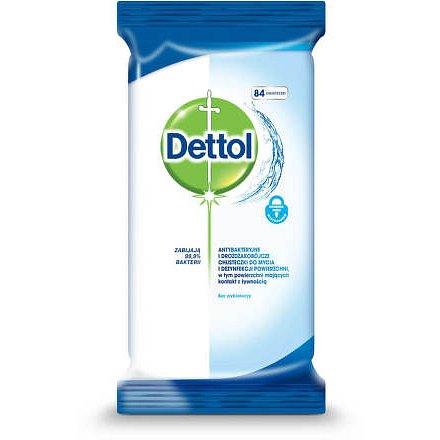 DETTOL Antibakteriální ubrousky na povrchy 84ks