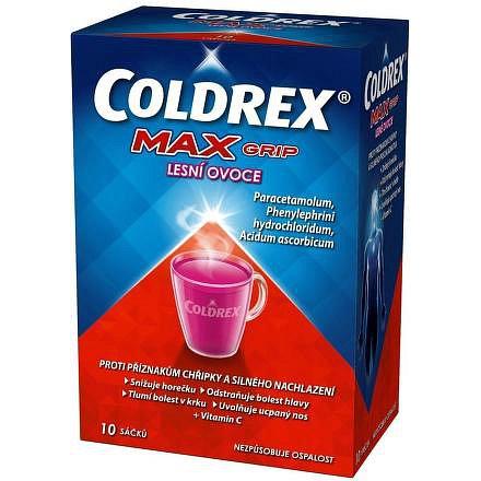 Coldrex MAXGrip horký nápoj lesní ovoce 10 ks