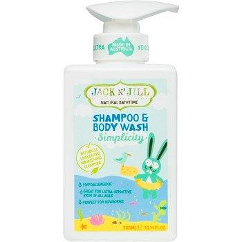 Jack N' Jill Simplicity jemný sprchový gel a šampon pro děti 2 v 1 300 ml