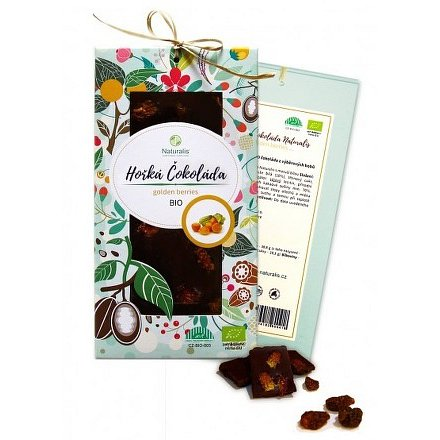 BIO Hořká čokoláda Naturalis s golden berries 80g
