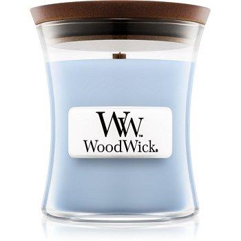Woodwick Soft Chambray vonná svíčka 85 g s dřevěným knotem