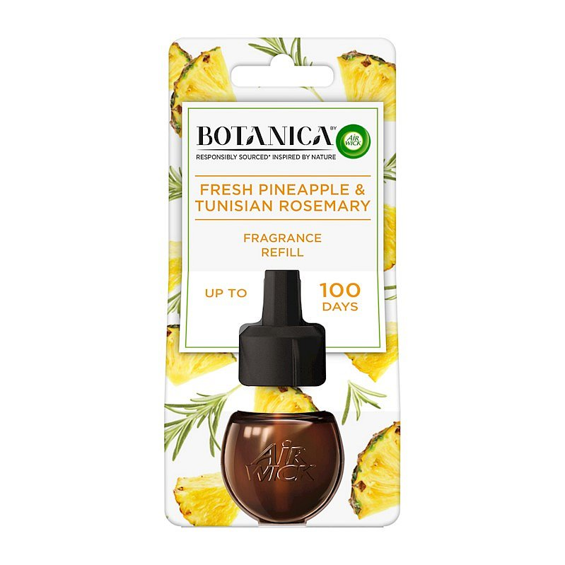 BOTANICA by AIR WICK tekutá náplň do elektrického přístroje Svěží ananas a tuniský rozmarýn 19 ml