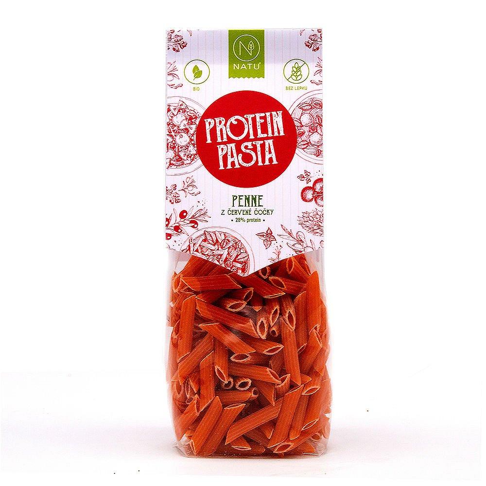 NATU Protein Pasta Penne z červené čočky BIO 250 g