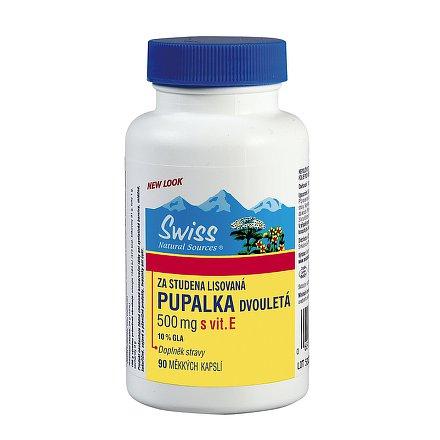 Swiss PUPALKA dvouletá 500 mg+vitamín E orální tobolky 90