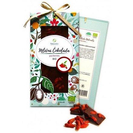 BIO Mléčná čokoláda Naturalis s goji berries 80g